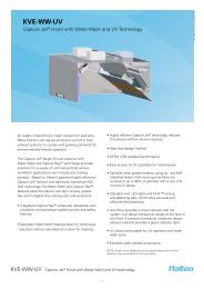 KVE-WW-UV Spec Sheet - Halton Company