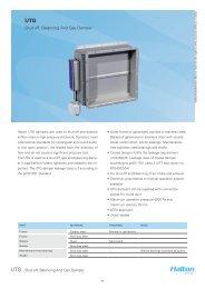Halton Shut-off, Balancing And Gas Damper