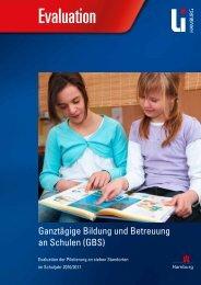 Evaluationsbericht Ganztägige Bildung und Betreuung an Schulen
