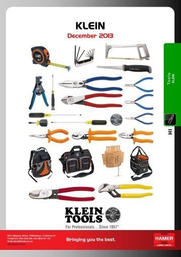 H1. Klein (Hand Tools) - Hamer Limited