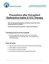 Radioactive Iodine (I-131) - Hamilton Health Sciences