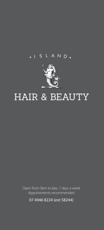 Island Hair and Beauty Price List - Hamilton Island