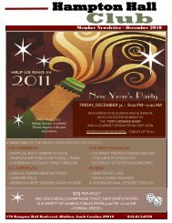 New Year's Eve - Hampton Hall Club