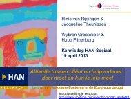 workshop presentatie - Hogeschool van Arnhem en Nijmegen