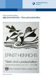 Ernst Heinrichs – Tiere und Landschaften - Galerie Handwerk Koblenz