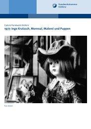 Inge Krutzsch, Monreal, Malerei und Puppen - Galerie Handwerk ...