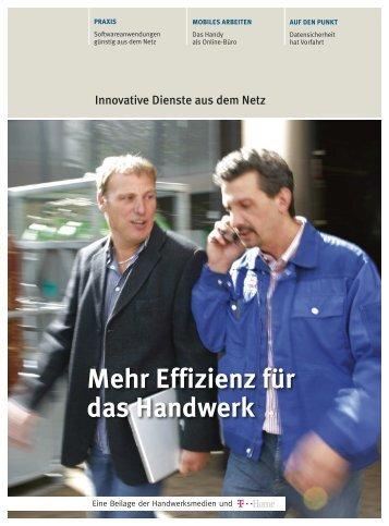 Mehr Effizienz für das Handwerk - handwerksblatt.de - Handwerk