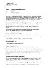 GV Protokoll - Genossenschaft Seniorenwohnungen Lausen