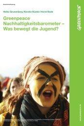 Zusammenfassung des Greenpeace-Nachhaltigkeitsbarometers