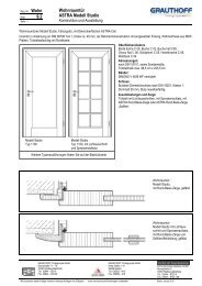 9.2 Wohnraumtür ASTRA Modell Studio - Grauthoff