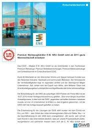 Entscheiderbericht E.W. NEU GmbH - GWS mbH