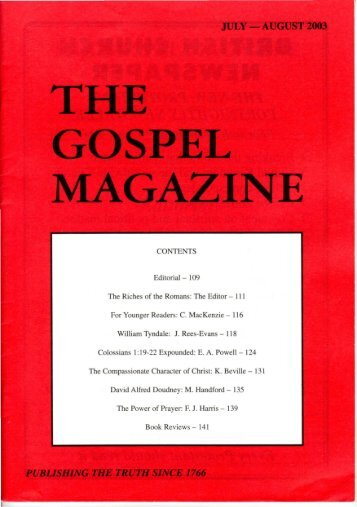 July-August - The Gospel Magazine