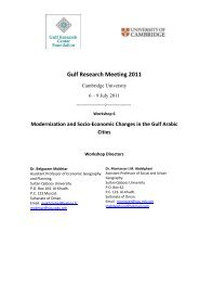 Gulf Research Meeting 2011 - Gulf Africa Investment Conference
