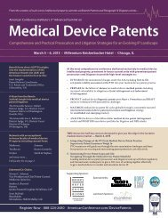 Medical Device Patents - Greenberg Traurig LLP