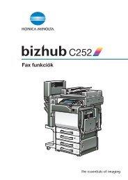 Konica Minolta Bizhub C252 Fax kézikönyv
