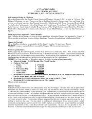 02/05/13 Meeting Minutes - Hanover
