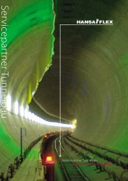 Servicep artner Tunnelbau - Hansa Flex