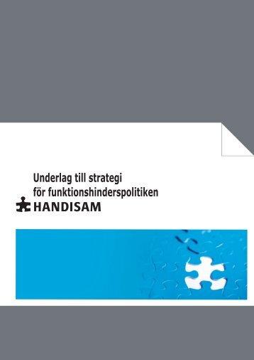 Underlag till strategi för funktionshinderspolitiken i pdf ... - Handisam