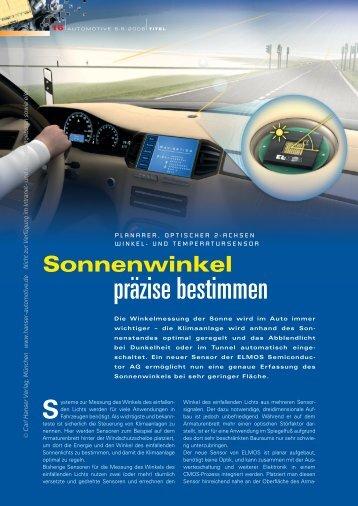 präzise bestimmen - HANSER automotive