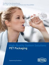 High-Quality System Solutions PET Packaging