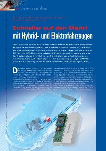 mit Hybrid- und Elektrofahrzeugen - HANSER automotive