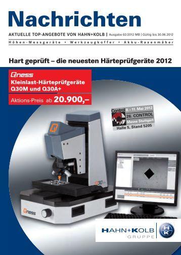HAHN+KOLB Nachrichten 02/2012 - HAHN+KOLB Werkzeuge GmbH