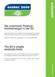 Die unsicheren Pestizidhöchstmengen in der EU - Greenpeace