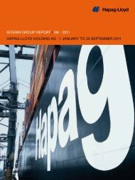 interim group report i 9m · 2011 hapag-lloyd holding ag · 1 January ...