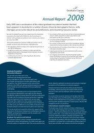 GCA Annual Report 2008 - Graduate Careers Australia