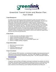 Transit Master Plan Fact Sheet - City of Greenville