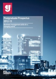 Postgraduate Prospectus 2012-13 - Greenwich School of ...