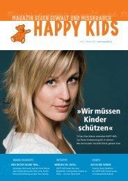 Wir müssen Kinder schützen - Happy Kids gegen Kindesmißbrauch