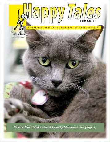 Senior Cats Make Great Family Members (see page 5) - Happy Tails ...