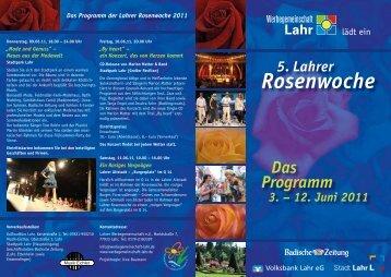 Das Programm der Lahrer Rosenwoche 2011 - HappyTime24.de