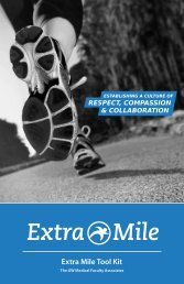 Extra Mile Toolkit - GW Medical Faculty Associates