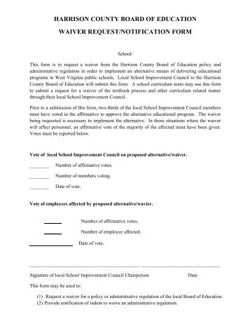 Waiver Request Form Waiver Request Form Employeevacationrequestform