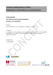 Concept multidisciplinaire richtlijn Diagnostiek en ... - PitstopSuicide