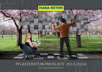 Preisliste 2013 Net.indd - HABA Pflastersteine