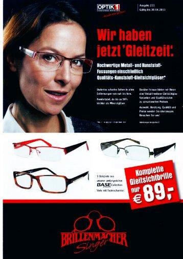 Brillenmacher Singer Aktionsangebote bis April 2011