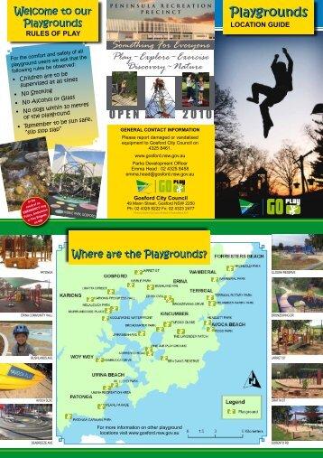 printer friendly playground brochure (PDF File, 2.4mb) - Gosford City ...