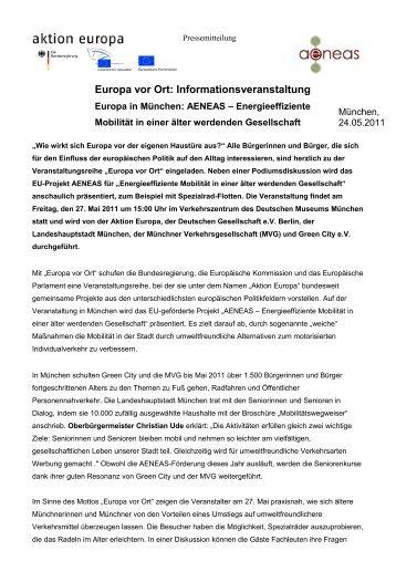 Europa vor Ort: Informationsveranstaltung - Green City eV