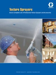 Texture Sprayers Brochure - Graco Inc.