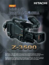 The Hitachi Z-3500 offers Professional users the best ... - Hannu Pro