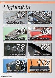 Das Inhaltsverzeichnis der Ausgabe 01-2007 (PDF ... - Hardwareluxx