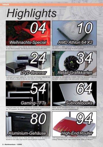 Das Inhaltsverzeichnis der Ausgabe 01-2006 (PDF ... - Hardwareluxx