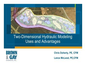 Two-Dimensional Hydraulic Modeling Uses and Advantages