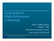 Approaches to High-Performance Computing - Distributed Systems ...