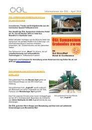 Informationen der ÖGL – April 2010 - OGL