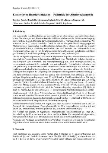 Ethanolische Handdesinfektion – Fallstrick der ... - GTFCh