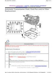 Automatic Transmission Fluid, Fluid Pan and/or Filter ... - GRRRR8.net